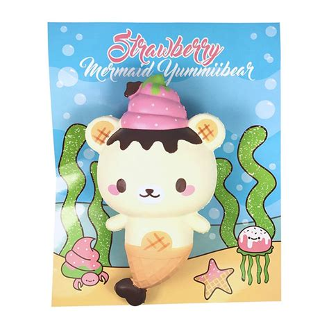 Squishy Strawberry By Yummiibear squishy yummiibear mermaid strawberry kawaii panda