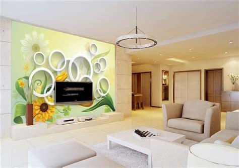 wallpaper dinding rumah 3d gaya italia wallpaper 3d keindahan bunga kuning wallpaper