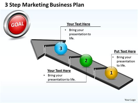 Business Powerpoint Templates 3 Step Marketing Plan Sales Sle Marketing Plan Presentation