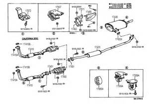Toyota Camry Exhaust System Parts 1992 Toyota Camry Exhaust Pipe