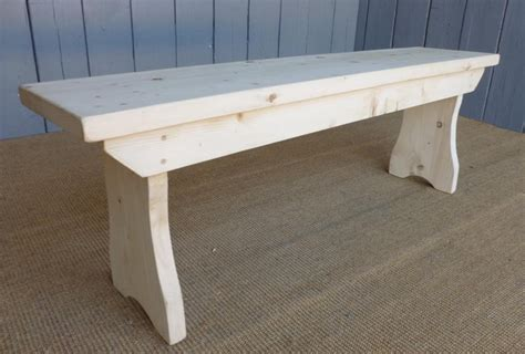 old reclaimed pine handmade kitchen bench