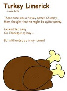 limerick template turkey limerick