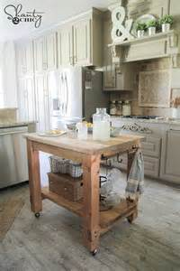 Diy kitchen island on wheels images