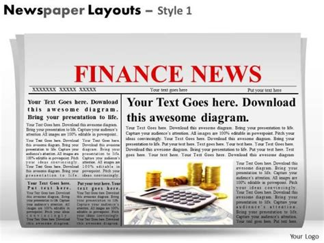 newspaper layout template for