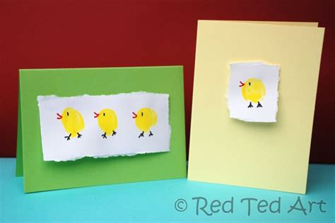 easter basket crafts red ted art s blog quick craft post easter chick cards red ted art s blog