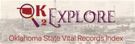Free Birth Records Oklahoma Ok2explore Has Oklahoma Vital Records Familytree
