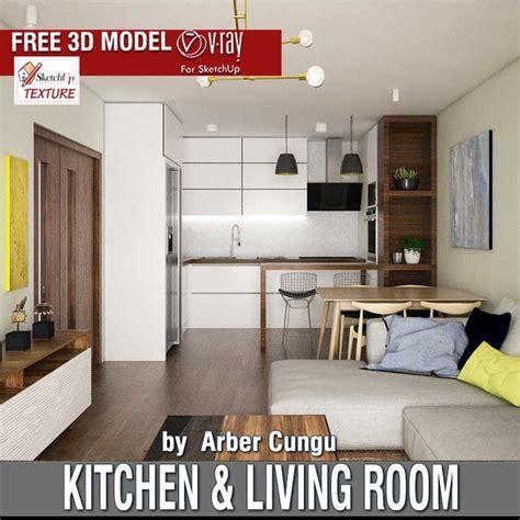 model kitchen room last free sketchup 3d model kitchen living room uploaded by arber cungu sketchup free 3d