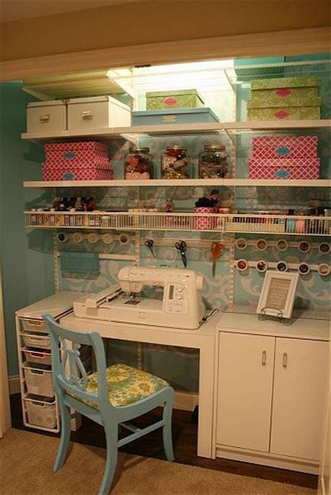 craft sewing closet craft storage closet and tables