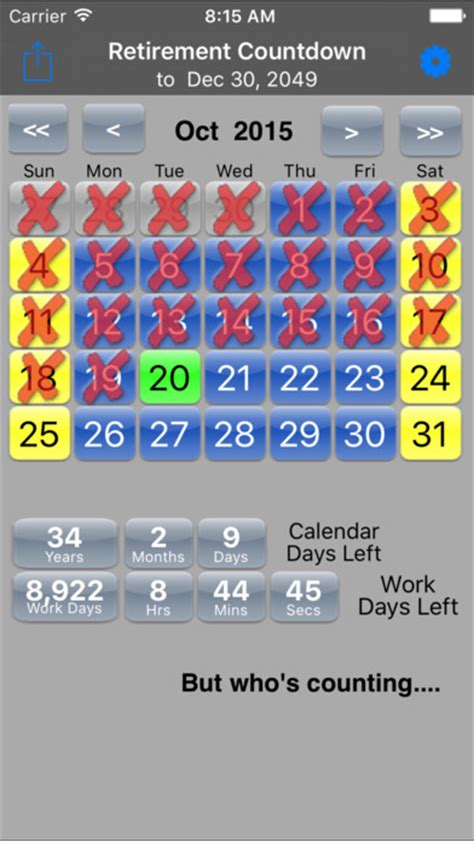 Countdown Calendar App Retirement Countdown Ad Free On The App Store