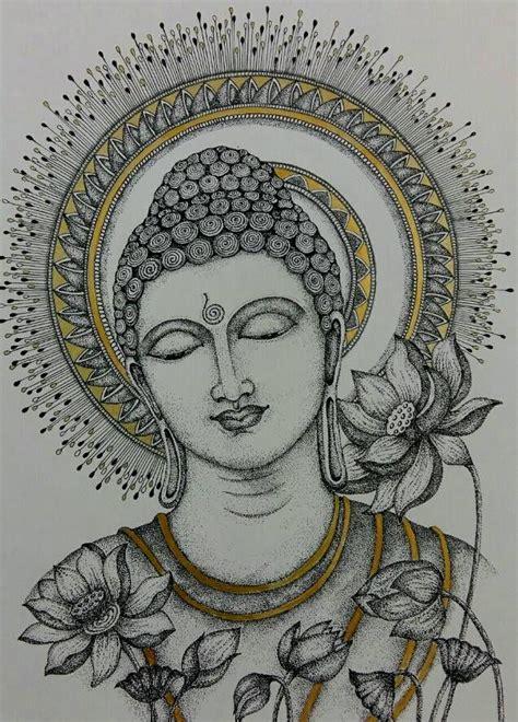 untitled buddha art drawing