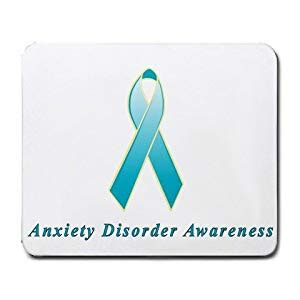 anxiety awareness color anxiety disorder awareness ribbon mouse pad