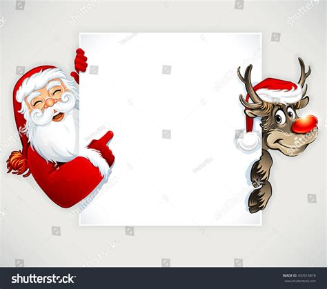 animated photos of christmas santa claus with reindeer santa claus reindeer vector vintage stock vector 497615878