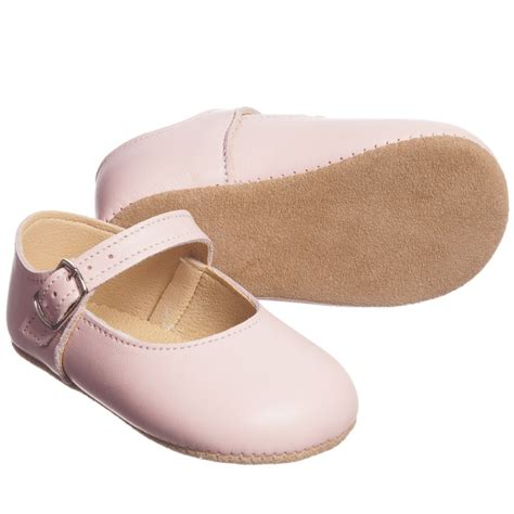 Fuchsia Prewalkerheels early days pale pink leather pre walker shoes childrensalon
