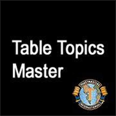 a growing diary toastmaster table topics master