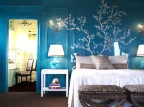 blue colour idea white bed