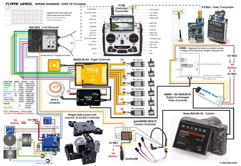 quadcopter wiring diagram naza m lite wiring free