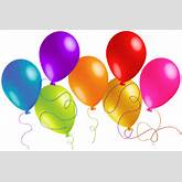 Large Transparent Colorful Balloons Clipart
