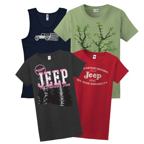 jeep clothing for t shirts sweatshirts