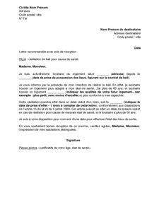 Lettre De Recommandation Pour Quitter Un Logement Modele De Lettre Pour Resilier Un Bail D Appartement