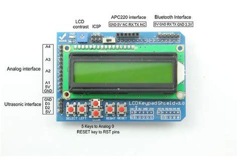 arduino tutorial lcd keypad shield arduino 1602 lcd keypad shield geeetech wiki
