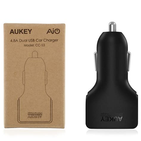Aukey Charger Mobil 4 Port 55w 2 4a Qc 3 0 Aipower Cc T9 1 esiafone 1 charger mobil aukey dual usb ports car charger 2 4a with aipower ak cc s3 original