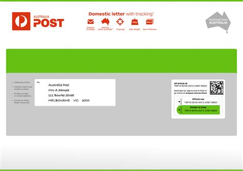 domestic letter tracking large prepaid envelope