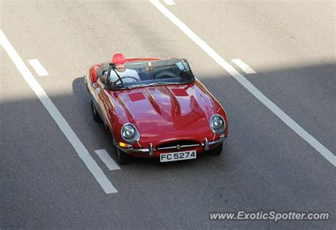 what type of is kong jaguar e type spotted in hong kong china on 08 24 2014