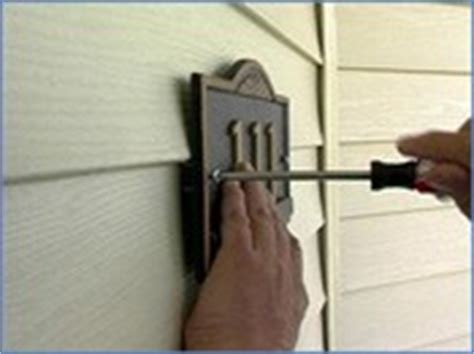 how to attach house numbers to vinyl siding no hole hooks for vinyl siding