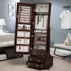 free standing mirror jewelry cabinet mf cabinets