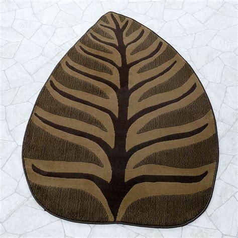 teppich blatt teppich blatt braun 100 x 160 cm wohnzimmer teppiche ebay