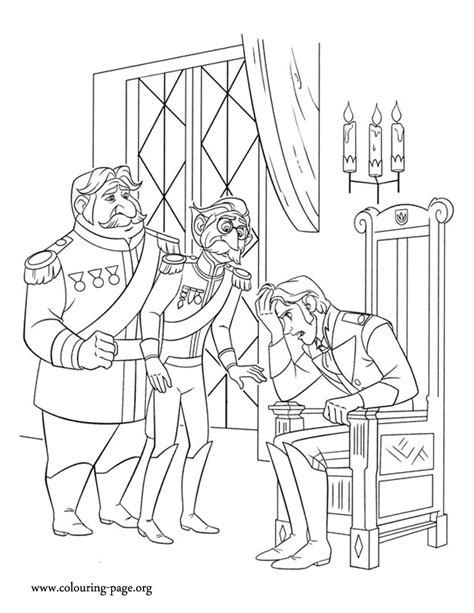 hans frozen cartoon coloring coloring pages