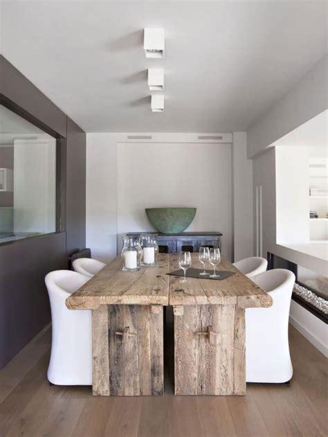 D Co Blanc Et Bois by D 233 Corez Vos Int 233 Rieurs Avec Une Table Rustique