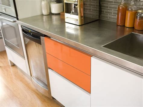 inspired examples  stainless steel kitchen countertops hgtv