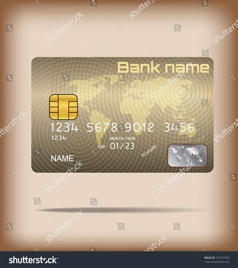 smart card design template metal credit card or smart card template design stock