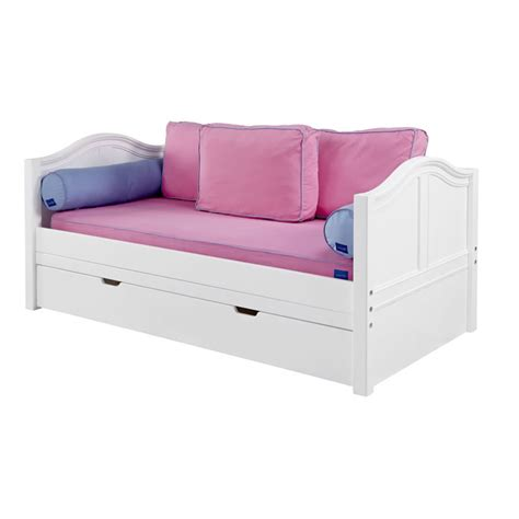 curved bed daybed in white with curved bed ends by maxtrix 230