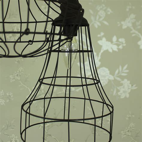 Wire Ceiling Light by Industrial Wire Pendant Ceiling Light Melody Maison 174