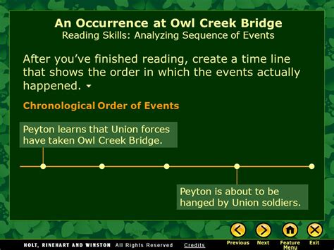 An Occurrence At Owl Creek Bridge Essay by An Occurrence At Owl Creek Bridge Essay An Occurrence At Owl Creek Bridge Study Guide Quiz
