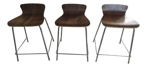 set of 3 counter stools crate barrel counter stools set of 3 chairish