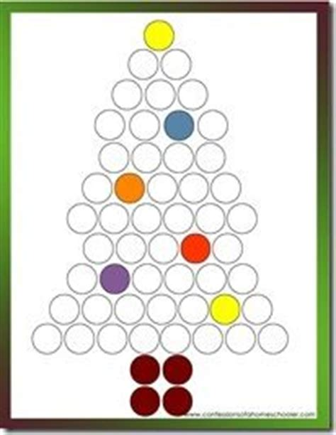 christmas tree bingo pattern 1000 images about moonbeams christmas activities for 2 3