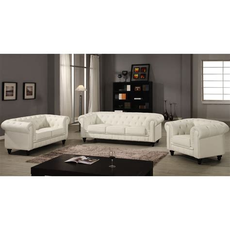 Canape Blanc by Canap 233 Chesterfield 2 Places Regency Blanc