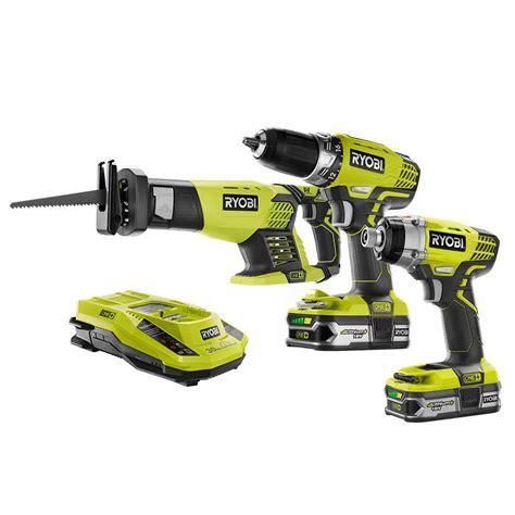 ryobi 18 volt one lithium ion cordless combo kit 3 tool