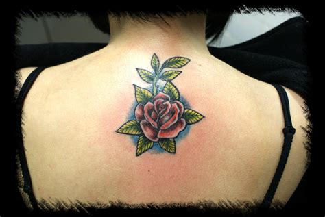tattoo new rose rose new school colour tattoo picture