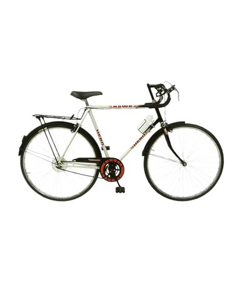 hero on a bicycle hero hawk 27t bicycle black silver buy online at best price on snapdeal