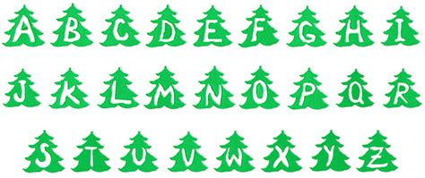 monogram christmas tree embroidery font annthegran