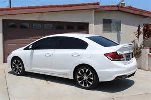 White Honda Civic Honda Civic Si 2013 Turbo Autos Post