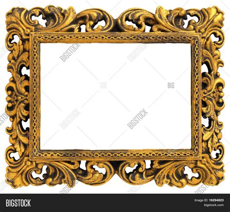 large decorative frame picture gold frame decorative image photo bigstock