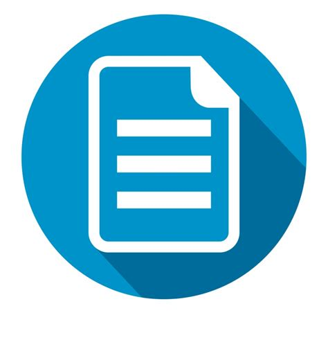 document png circle document icon transparent png