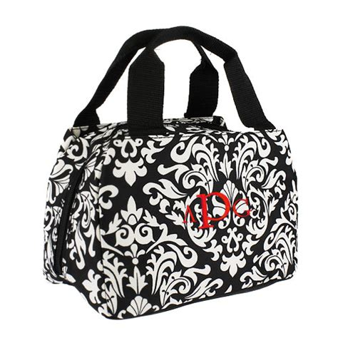 lunch tote damask insulated lunch tote personalized