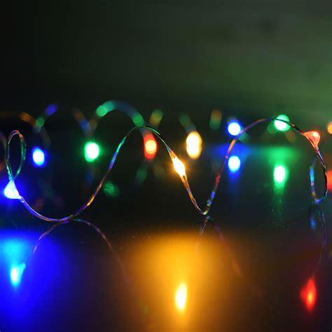 Multi Color Plug In Led Dew Drop String Lights Multi Color Led String Lights