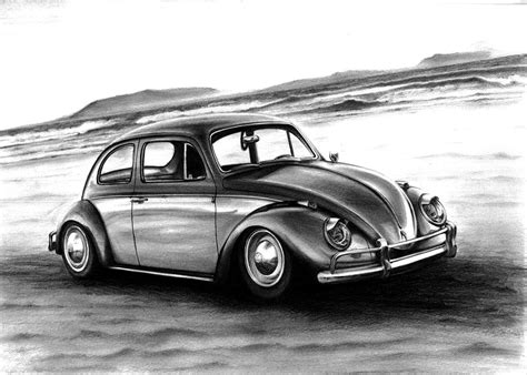 volkswagen bug drawing volkswagen beetle art drawing by racing is my life on